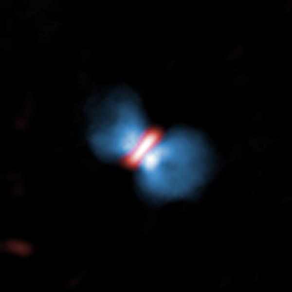 ALMA observations of a protostellar object.  Credit: ALMA (ESO/NAOJ/NRAO).
