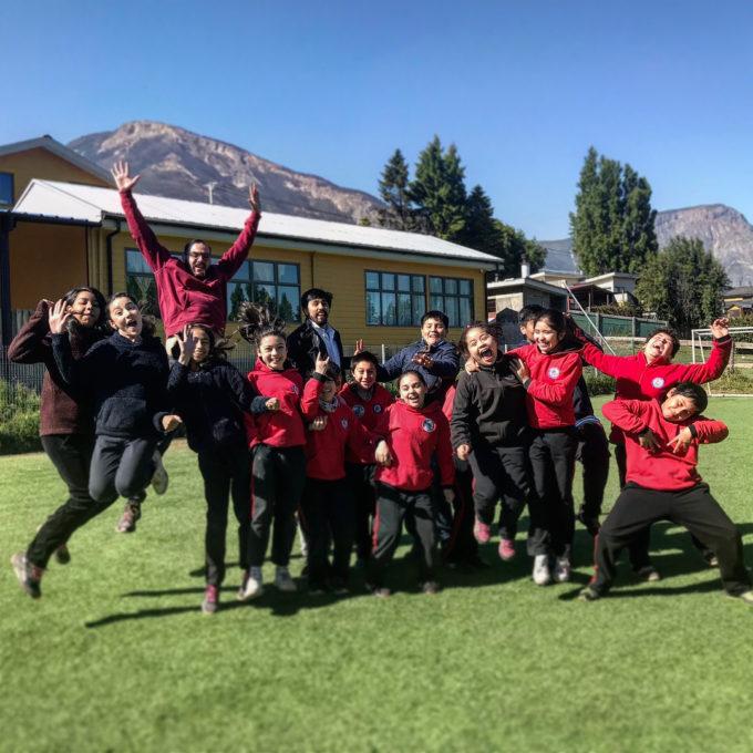 5º básicos del Colegio Unión Fraterna de Coyhaique. Crédito: Nicolás Lira - ALMA (NRAO/NAOJ/ESO)